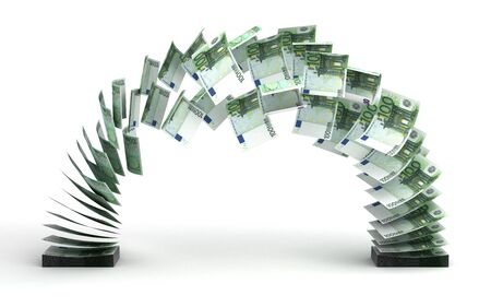 Euro Transfer (isolated with clipping path) Stock Photo - 14376965
