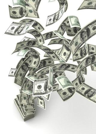 Flying Dollars Stock Photo - 14377133