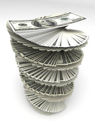 Swirled Dollars Stock Photo - 14376975