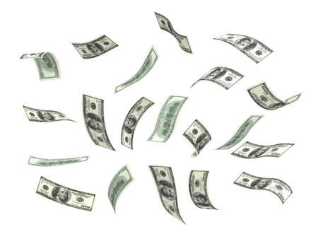 dinero volando: Dinero volando aislado con trazado de recorte