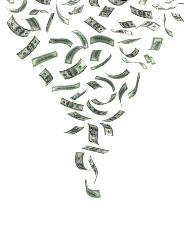Whirlwind of Money  isolated Stock Photo - 14376837