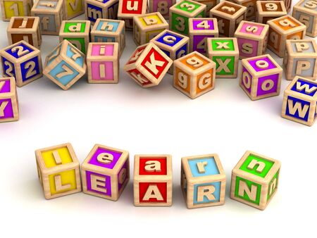 Learning with toy blocks Stock Photo - 14455347