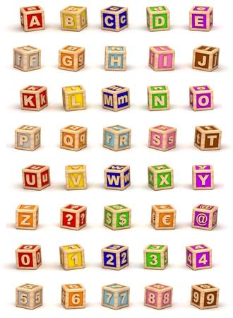 toy blocks: Cube Alphabet