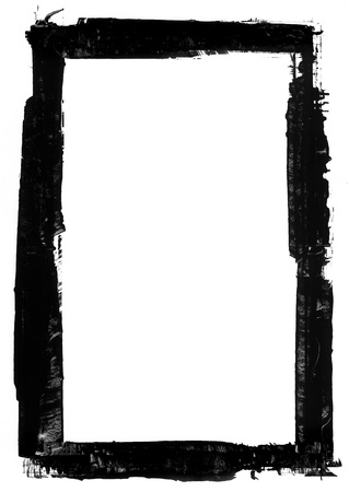 marco blanco y negro: Grunge elemento transfronterizo Dise�o Foto de archivo