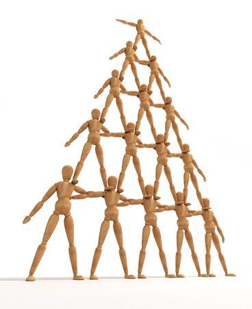 piramide humana: Pir�mide