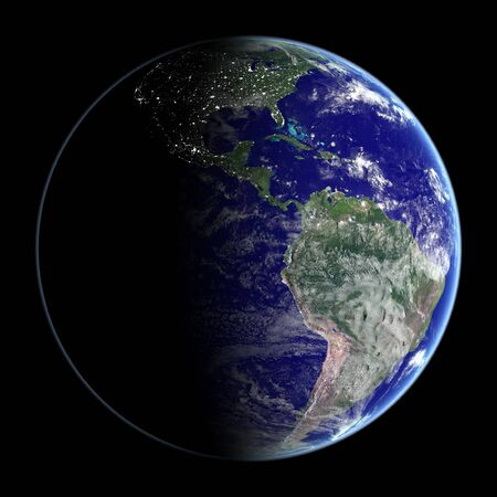 photo realism: Day   Night from space