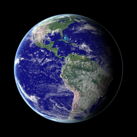 photo realism: Earth from space