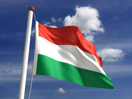 3D Hungary flag  Stock Photo - 14552364