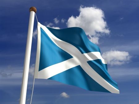 scottish: 3D Scotland flag   Stock Photo