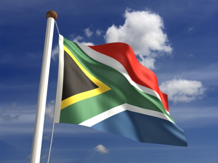 3D South Africa flag Stock Photo - 14552377
