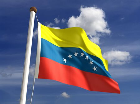 3D Venezuela flag   Stock Photo - 14552369