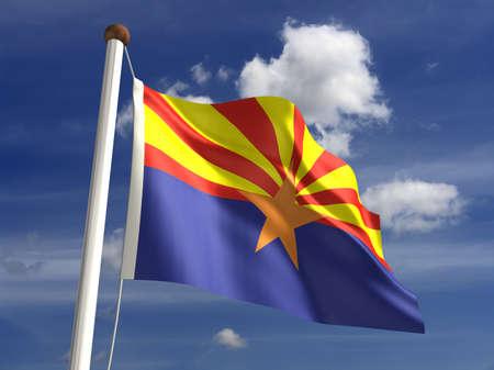 3D Arizona flag Stock Photo - 14754300