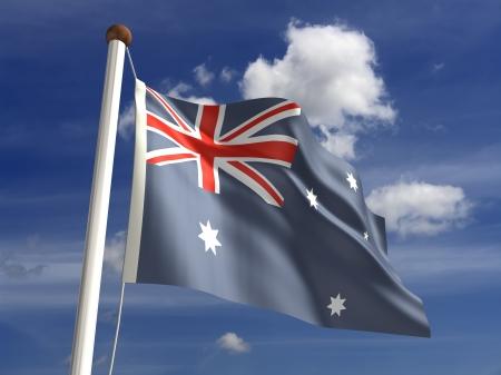 3D Australia flag photo