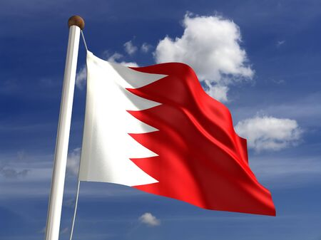 3D Bahrain flag photo
