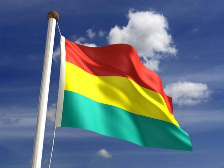 bandera de bolivia: 3D bandera de Bolivia
