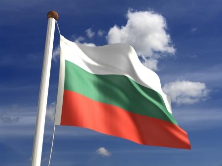 3D drapeau Bulgarie