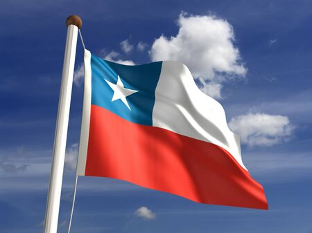 3D Chile flag Stock Photo - 14754282