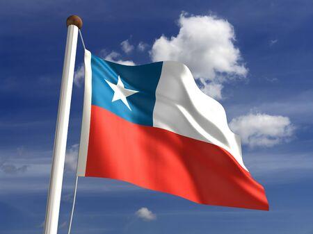 3D Chile flag photo