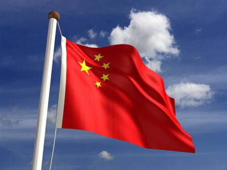 3D China flag photo