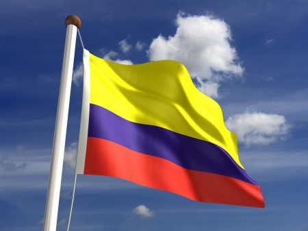 3D Colombia flag Stock Photo - 14754264