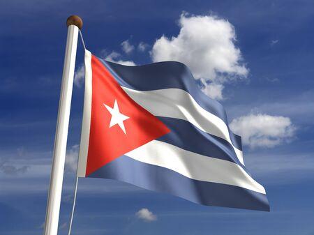 bandera cuba: 3D bandera de Cuba