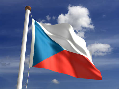 3D Czech Republic flag Stock Photo - 14754287