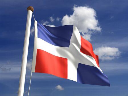 dominican republic: 3D Dominican Republic flag Stock Photo