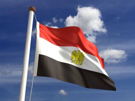 bandera de egipto: 3D bandera de Egipto Foto de archivo