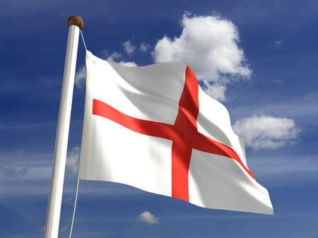 bandera inglaterra: 3D bandera de Inglaterra Foto de archivo