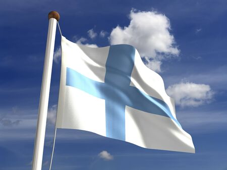 finnish: 3D Finland flag