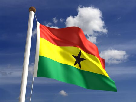 3D Ghana flag Stock Photo - 14754279