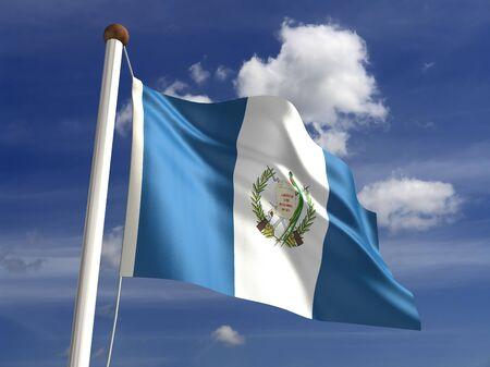 bandera de guatemala: 3D bandera de Guatemala Foto de archivo