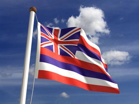 big island: 3D Hawaii flag