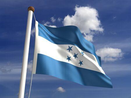 3D Honduras flag photo