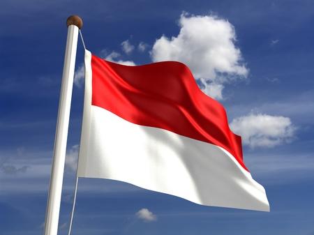 3D Indonesia flag Stock Photo