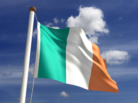 3D Ireland flag Stock Photo - 14754302