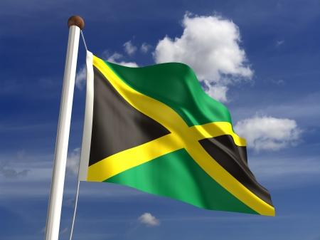 jamaican flag: 3D Jamaica flag Stock Photo