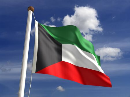 kuwait: 3D Kuwait flag