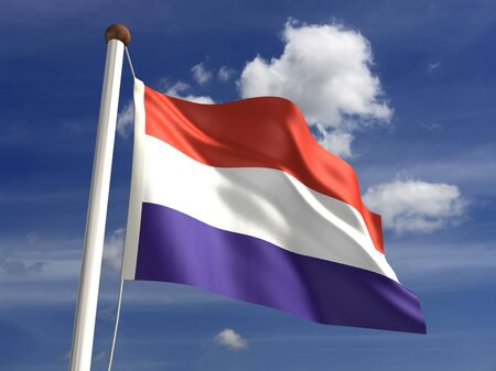 3D Luxembourg flag Stock Photo - 14754261
