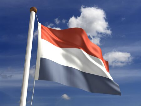 3D Netherlands flag Stock Photo - 14754269