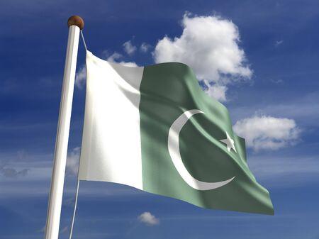 pakistan flag: 3D Pakistan flag