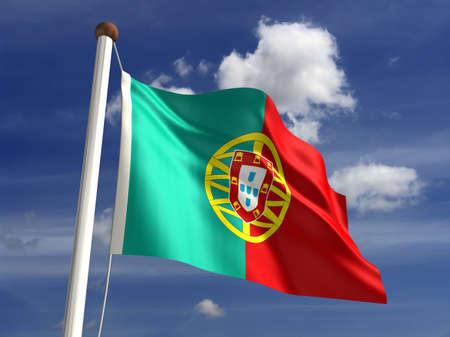 drapeau portugal: 3D drapeau portugal Banque d'images
