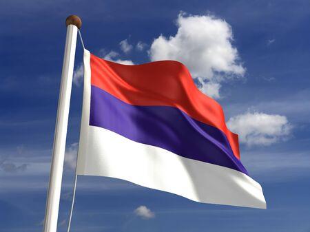 3D Serbia flag Stock Photo - 14754254