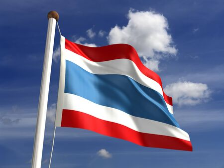 3D Thailand flag Stock Photo