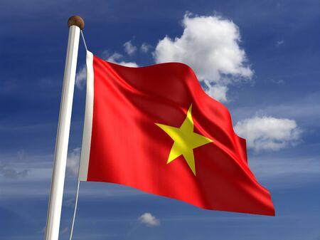 vietnam flag: 3D Vietnam flag Stock Photo