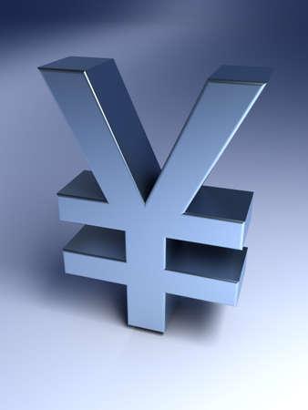 yen sign: Yen sign Stock Photo