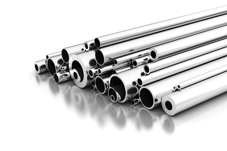 metal pipe: Stell Pipes Stock Photo