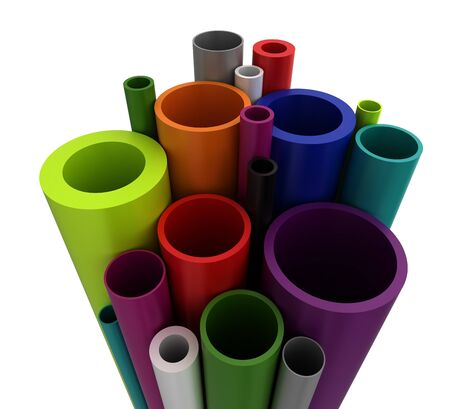 Colorful Plastic Pipes photo