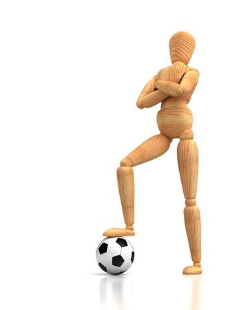 Sport Concept With Soccer Mannequin  Computer generated image  Stock Photo - 16028012