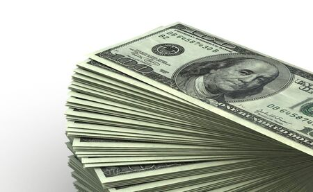 Stack of Dollar concept  computer generated image Stock Photo - 16028040